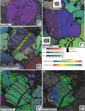Microstructural characteristics of deformed areas