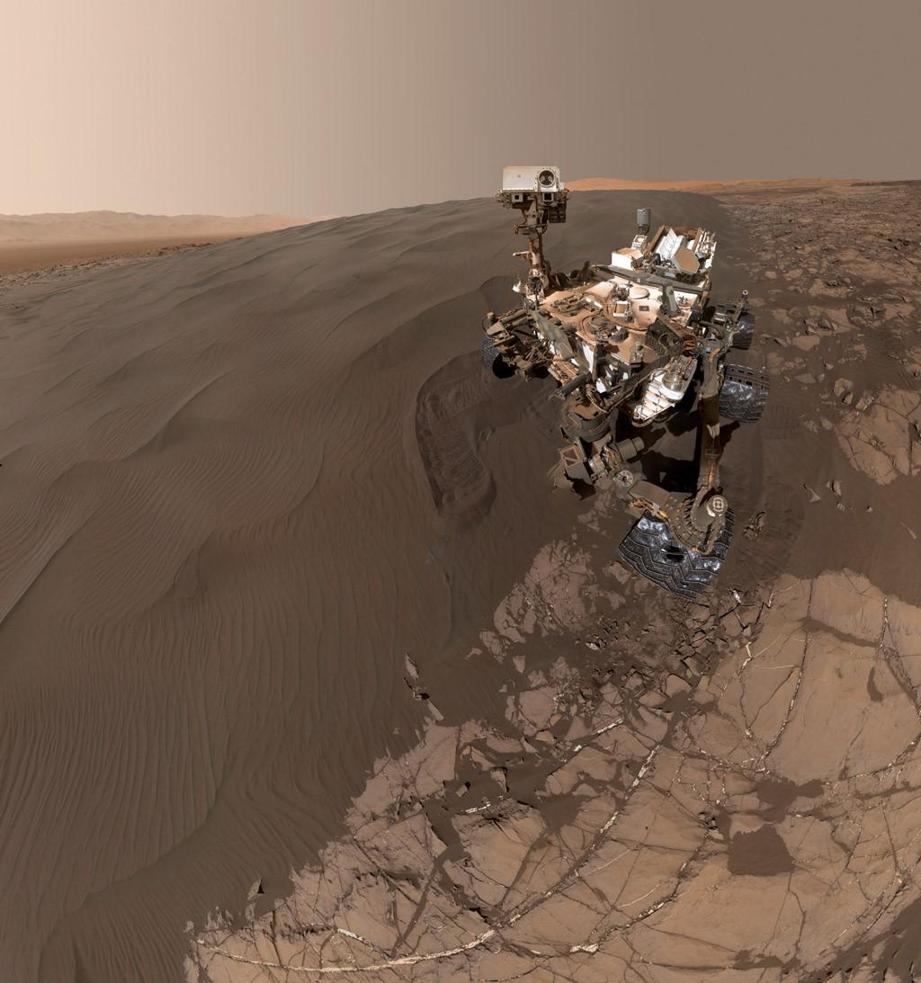 El rover Curiosity.