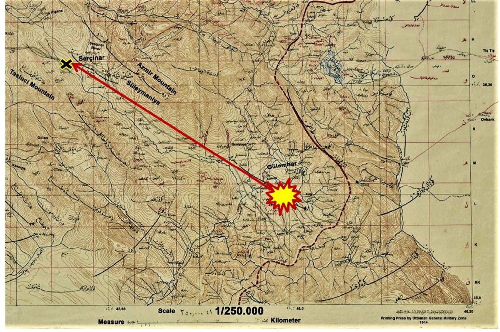 Mapa que detalla la posible trayectoria del meteorito Sulayminiyah durante su caída.