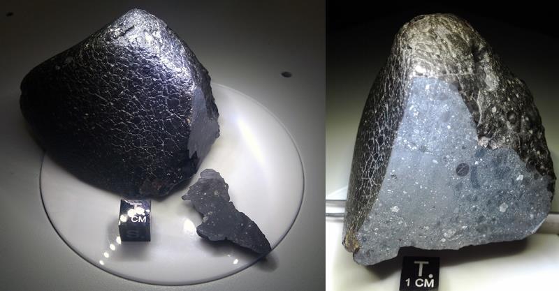 Meteorito conocido como 'Noroeste de África (NWA) 7034'.