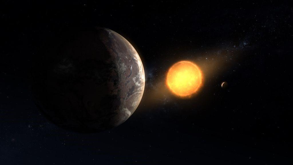 Una ilustración artística del exoplaneta potencialmente habitable Kepler-1649c.