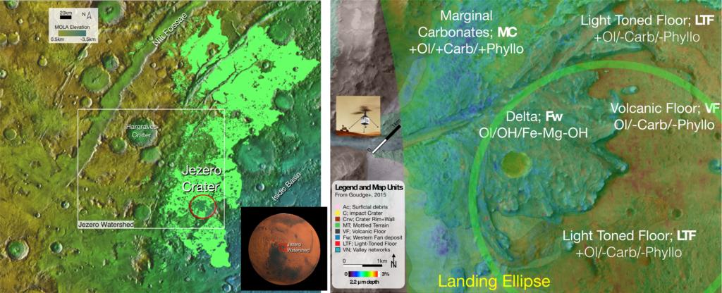 A medida que se acerca el lanzamiento, el equipo de Mars 2020 utiliza rocas australianas como un análogo para la serpentinización olivina en el sitio de aterrizaje.