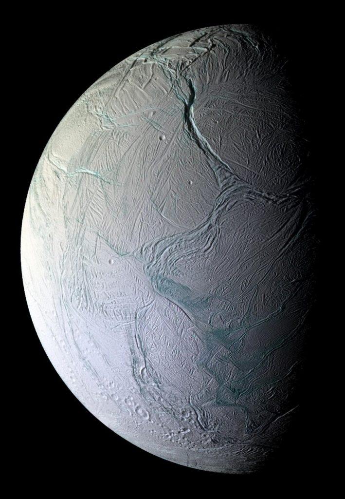 Saturn's icy moon Enceladus.
