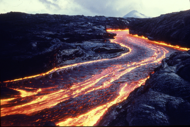Pu'u O'o Lava Channel, Hawaii