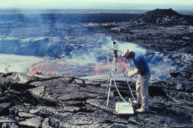 Temperature Measurements, Kupaianaha Lava Lake, Hawaii