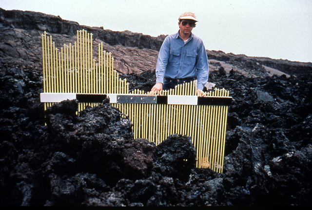 A'a Topography, December 1974 Lava Flow, Kilauea, Hawaii