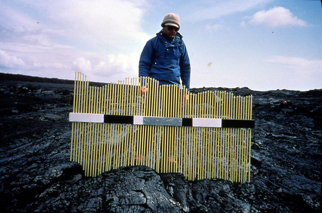29. Pahoehoe Topography, December 1974 Lava Flow, Kilauea, Hawaii