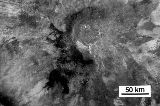 Lava Flows at Summit of Sif Mons, Venus