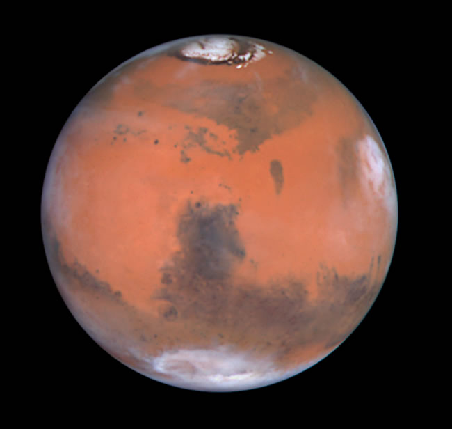 3. Space Telescope View of Mars (0°N,270°W)