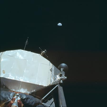 Earth over LM (Apollo 11)
