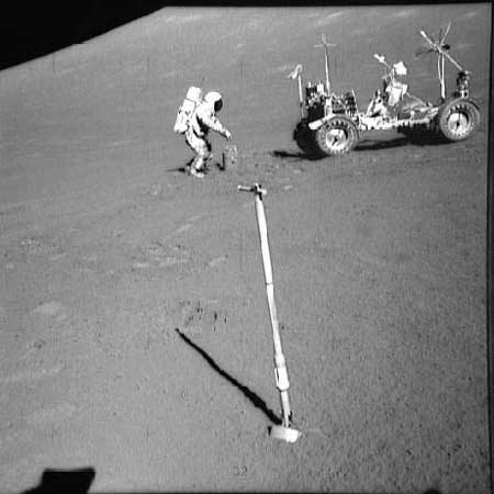 apollo 17 STA 8; COMMANDER; SCOOP; LUNAR ROVING VEHICLE