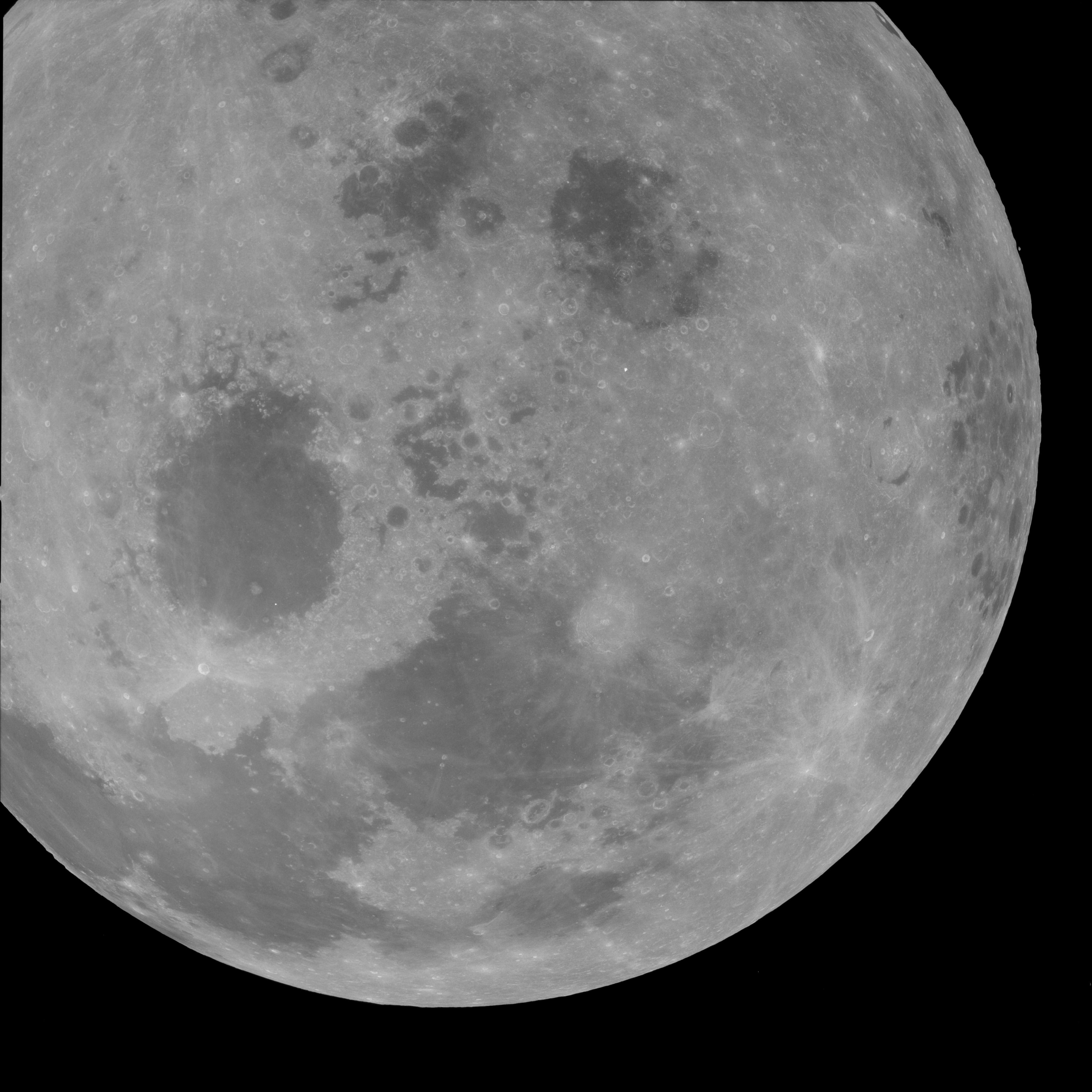 фотоснимки луны вдоль