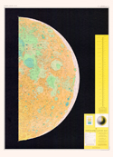 Sheet 1 - Topographic Lunar Map - Gradient Tint Printing
