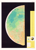 Sheet 2 - Topographic Lunar Map - Gradient Tint Printing