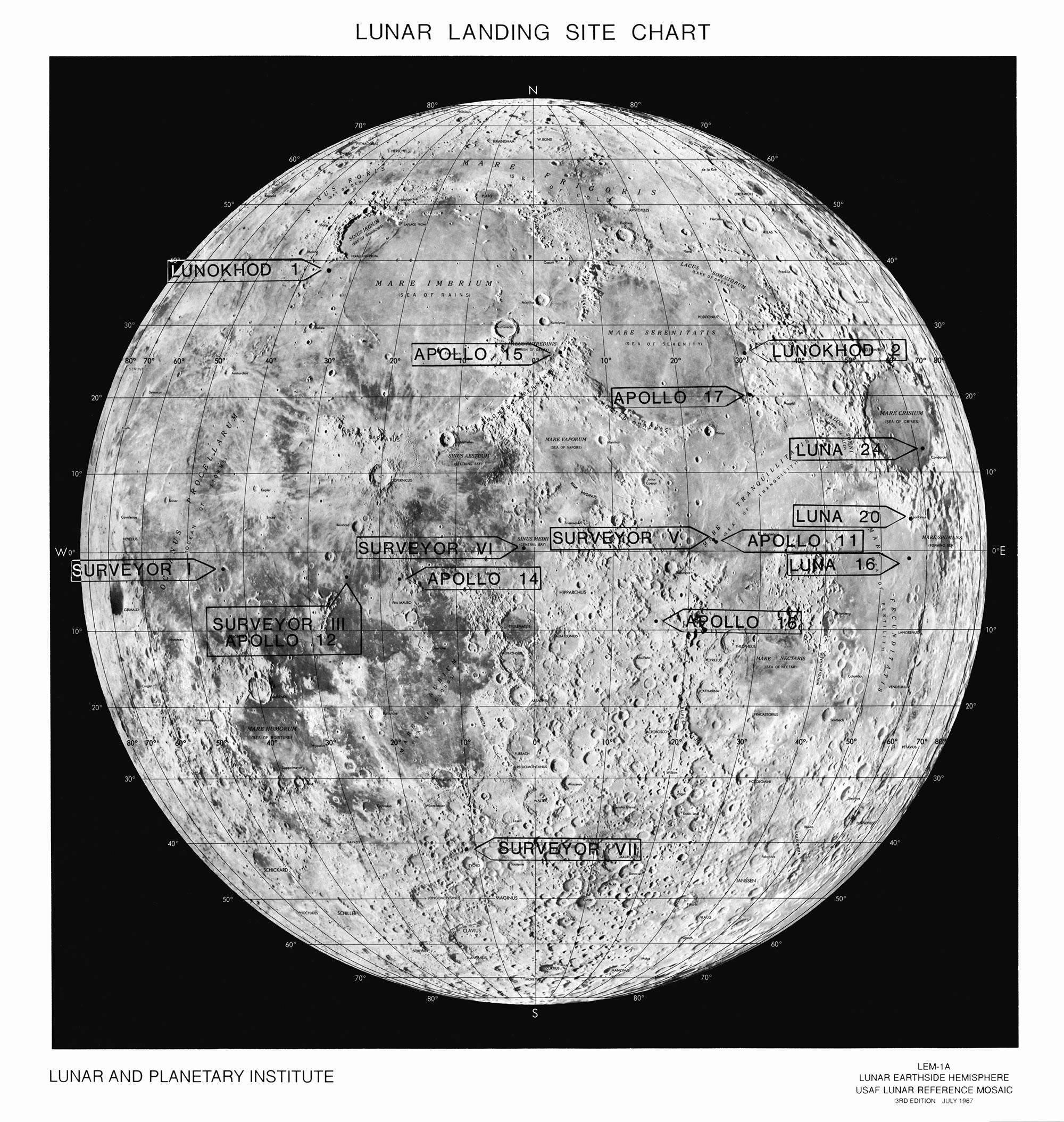 map of moon landings - photo #13