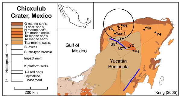 Chicxulub Surface Geology Map