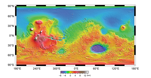 Topography of Mars